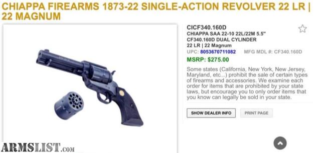 chiappa 10 shot 22 revolver