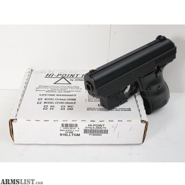 ARMSLIST - For Sale: NEW Hi-Point C9 w/ LaserLyte 9mm Semi