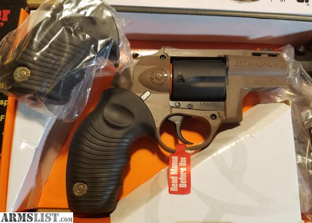 ARMSLIST - For Sale: NEW TAURUS 605 POLY BROWN/BLK 357