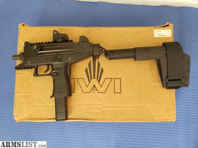 ARMSLIST - For Sale: IWI UZI Pro Pistol With Brace and