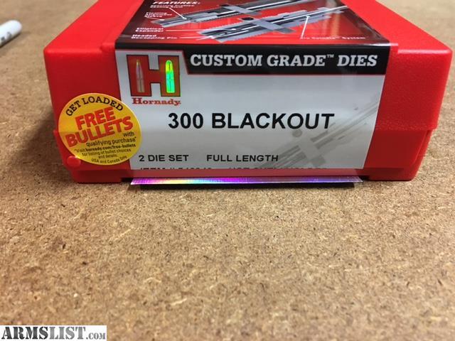 ARMSLIST - For Sale: Hornady 300 Blackout dies