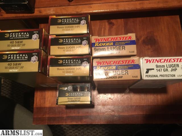 ARMSLIST - For Sale:  40 S&W/9mm Ammo (HST/Rangers)