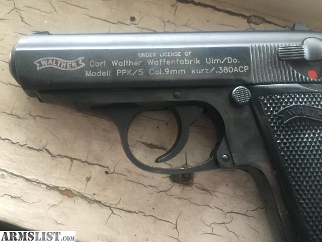 ARMSLIST - For Sale: Walther ppk/s 380 ACP