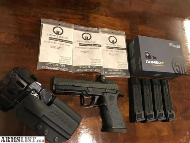 ARMSLIST - For Sale: Sig P320 X5 w/extras