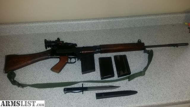 ARMSLIST - For Sale: L1A1 FN FAL inch pattern rifle with Trilux scope