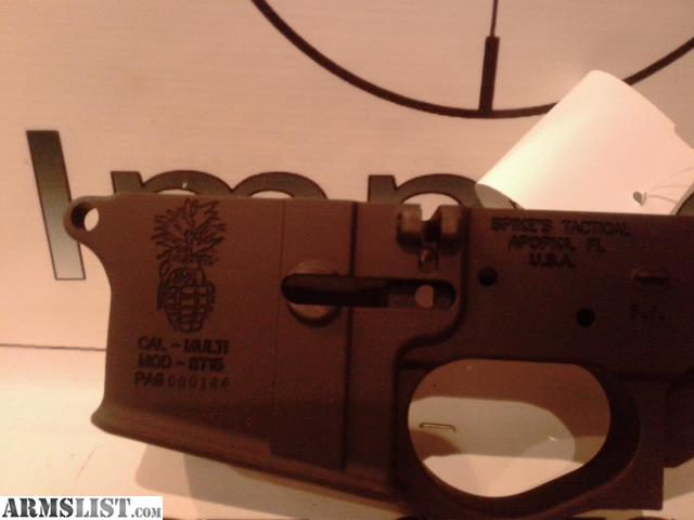 ARMSLIST - For Sale: SPIKES TACTICAL LOWER *PINEAPPLE GRENADE*