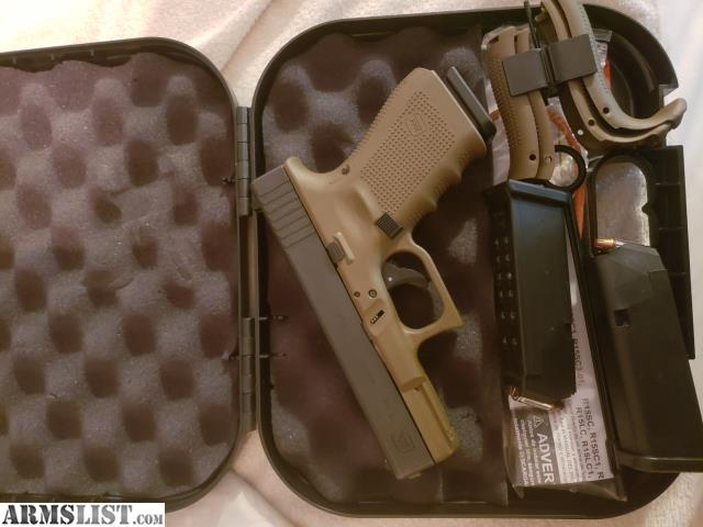 ARMSLIST - For Sale/Trade: Glock 19 fde gen4