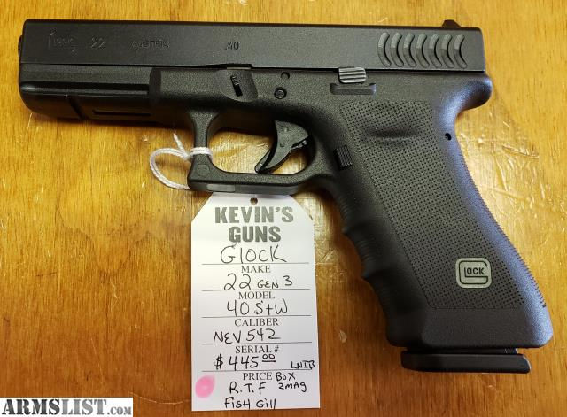 Armslist For Sale Glock 22 Gen3 40cal