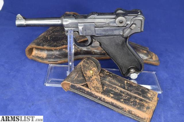 ARMSLIST - For Sale: WWI ERFURT P08 Luger 9MM W/Holster