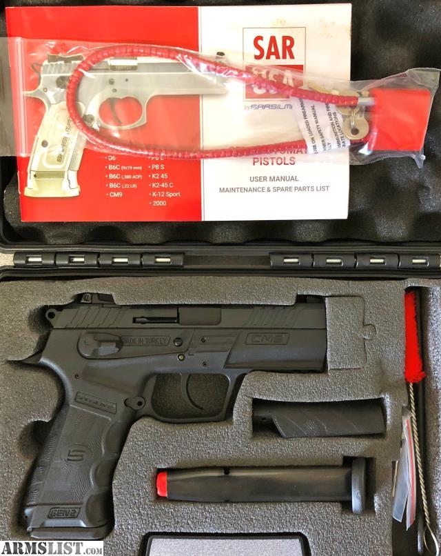 ARMSLIST - For Sale: New!! SAR USA CM9 GEN2 CM9 9mm 17rd 3 8