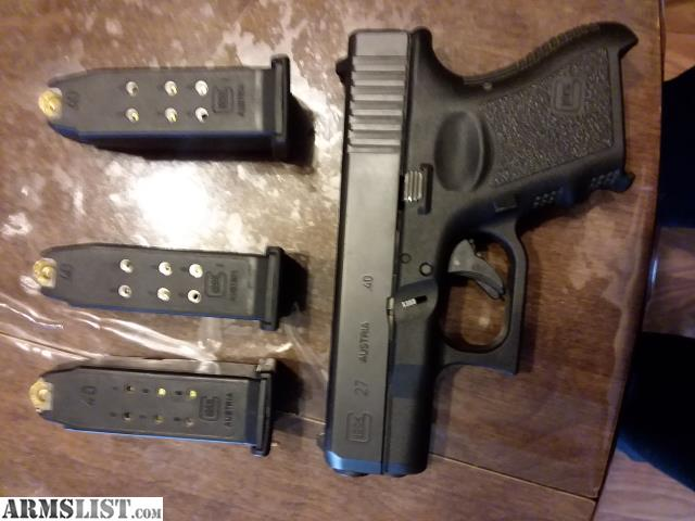 Armslist For Sale Glock 27 40 Cal For Sale