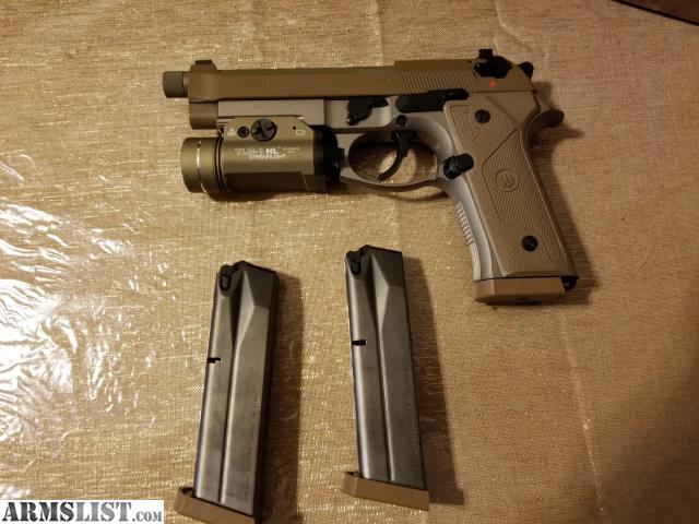 ARMSLIST - For Sale: Beretta M9A3+Streamlight TLR1 HL+JMCK