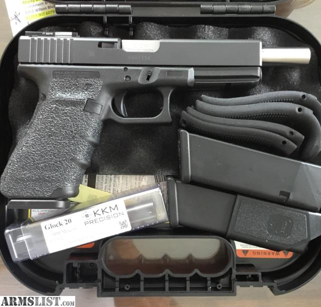 ARMSLIST - For Sale: Glock 20 10mm Gen 4 + KKM Barrel and