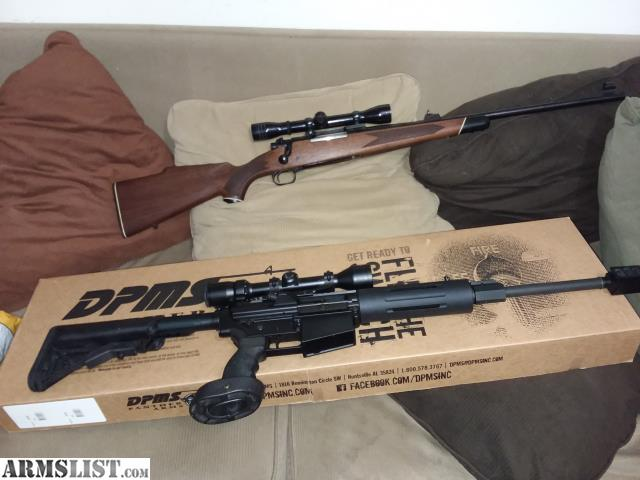 armslist for sale winchester 70 30 06 and ar 10