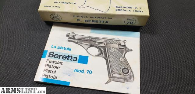 ARMSLIST - For Sale: Beretta 70S 380 ACP with Box and Paperwork