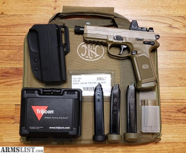 ARMSLIST - For Sale/Trade: FN FNX-45 Tactical w/ RMR