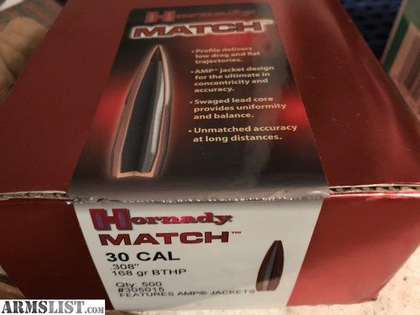 ARMSLIST - For Sale:  308 Sierra & Hornady Match Bullets