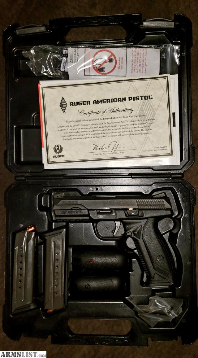 ARMSLIST - For Trade: Ruger American Pistol Pro 9mm Luger +P