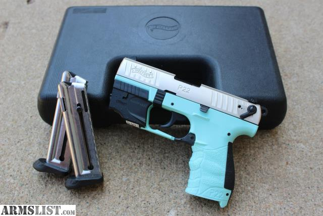 ARMSLIST - For Sale: Walther P22 w/ Laser Nickel/Angel Blue