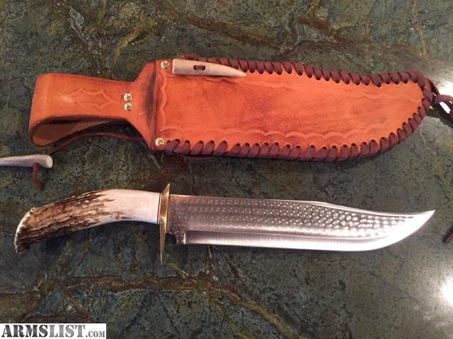 Armslist For Sale Large 17 Custom Made Knife By Artisan Clint Woods