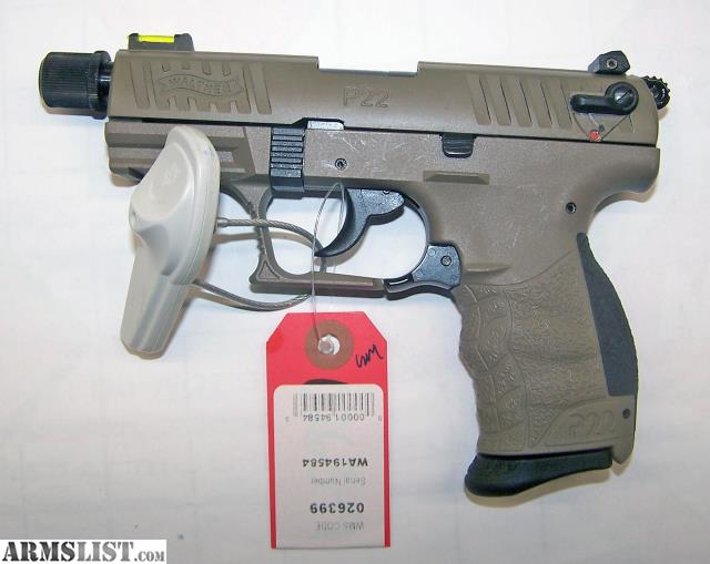 ARMSLIST - For Sale: Walther P22 Tactical FDE  22LR #026399