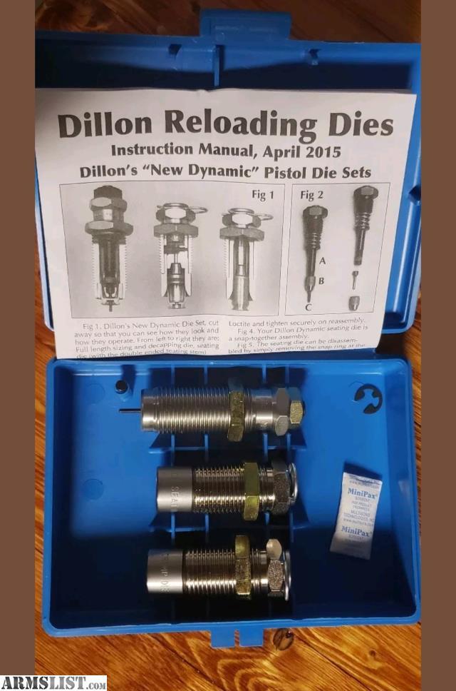 ARMSLIST - For Sale: Dillon Precision 38 Super Pistol Die set