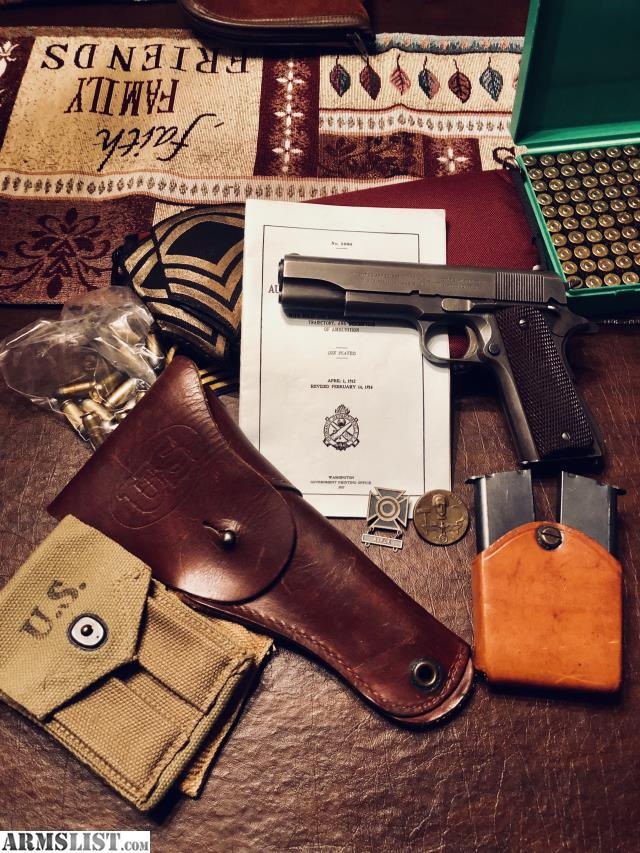 ARMSLIST - For Sale: Reduced: Colt Mfg  Model 1911A1 Military  45
