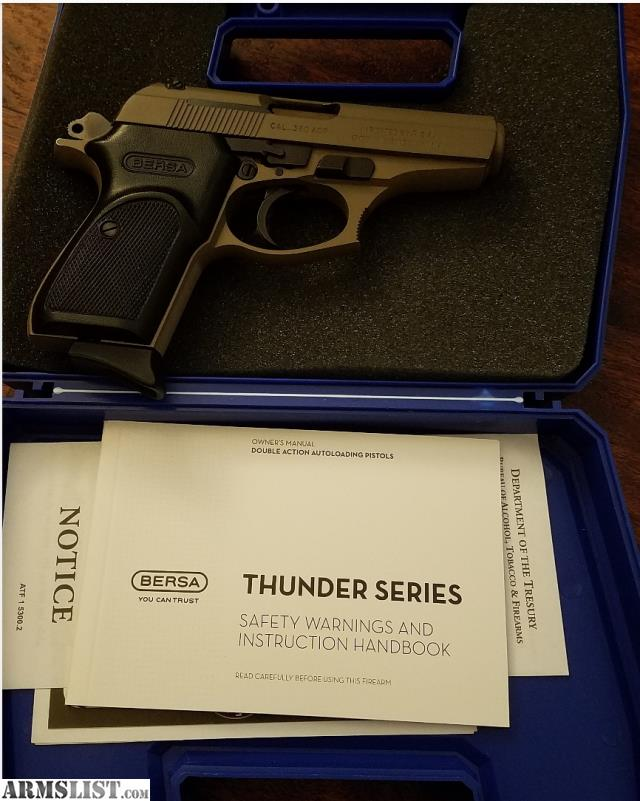 ARMSLIST - For Sale/Trade: FDE Bersa Thunder 380