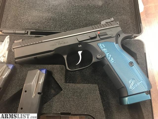 ARMSLIST - For Sale: CZ Shadow 2 9mm blue grips