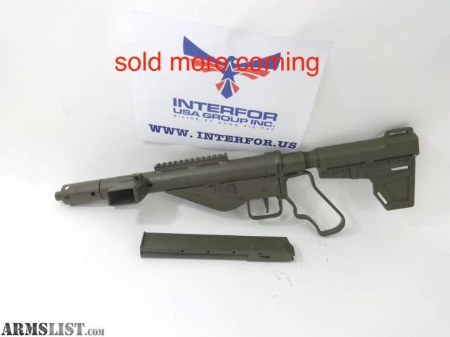 ARMSLIST - For Sale: Sten semiauto replica pistol - 9mm
