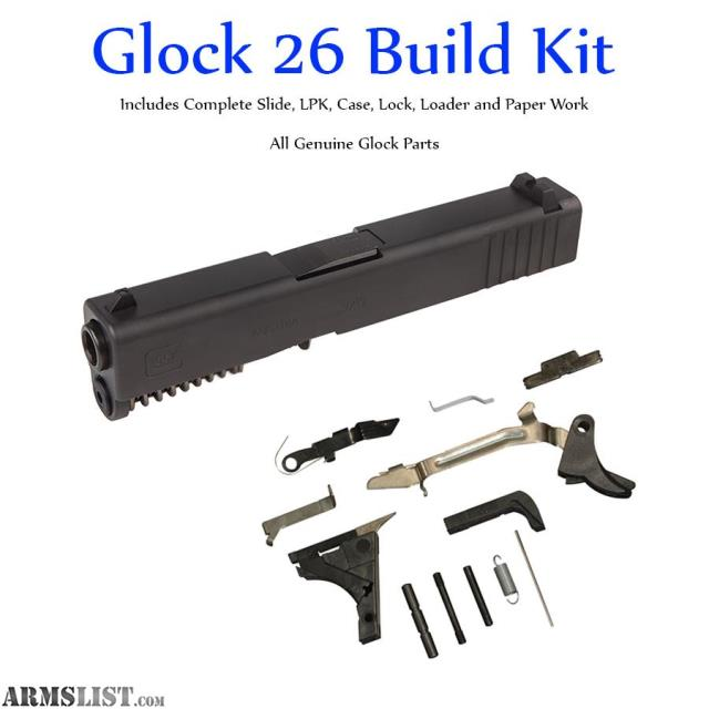 ARMSLIST - For Sale: Glock 26 Gen 3 Build Kit for Polymer 80