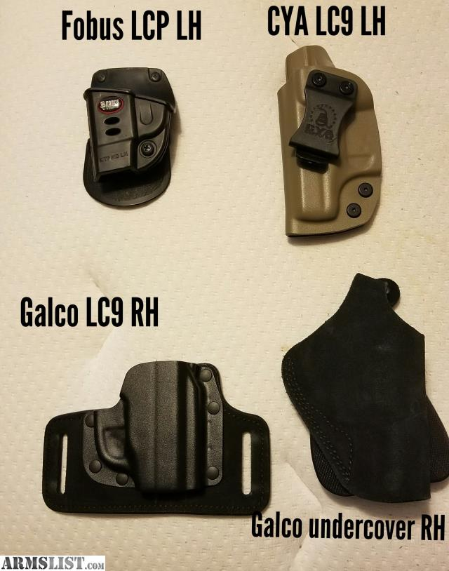 ARMSLIST - For Sale: Holsters, lcp, lc9, charter arms  Incl