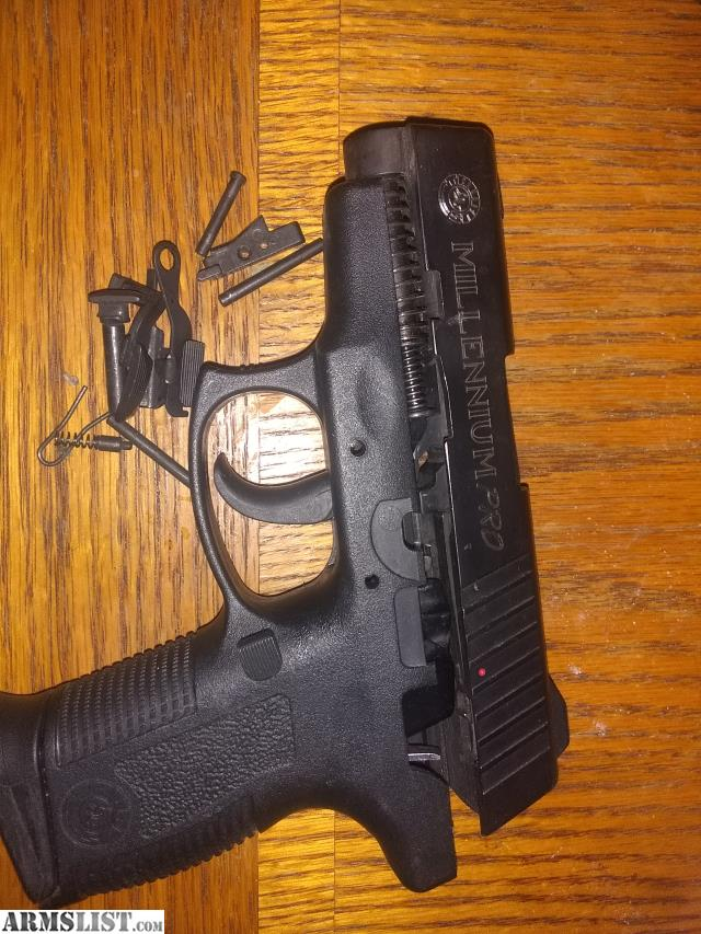 all parts to a taurus millennium pro 9mm except magazine and serialized  lower part of reciever