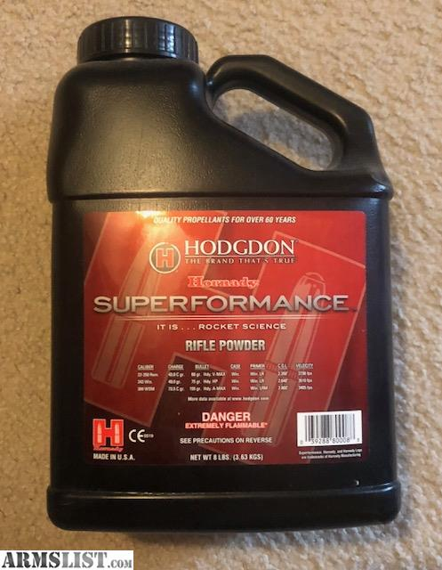 ARMSLIST - For Sale: New 8lb container of Hodgdon Superformance