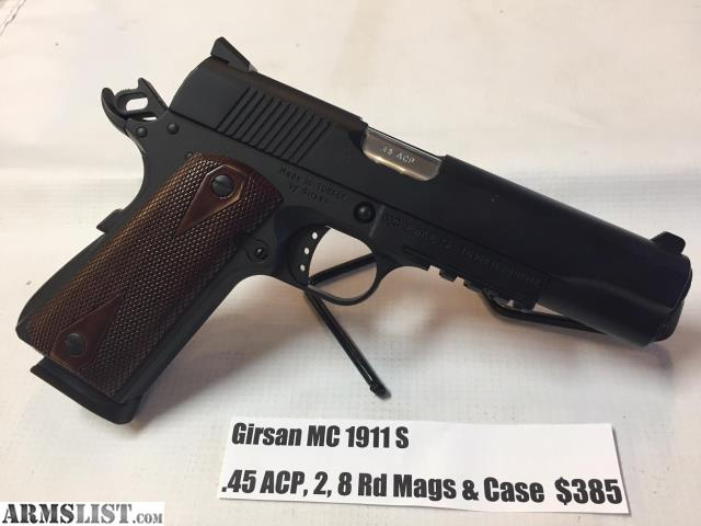 ARMSLIST - For Sale: USED Girsan MC 1911 S  45ACP 2- 8 Rd