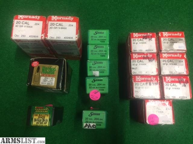 ARMSLIST - For Sale: Assorted 20 Cal Bullets (Projectiles