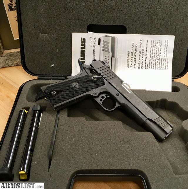 ARMSLIST - For Sale: Taurus PT 1911 9mm