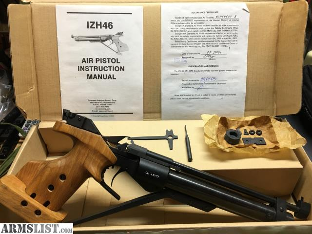 ARMSLIST - For Sale: IZH-46M Competition Air Pistol (Used in