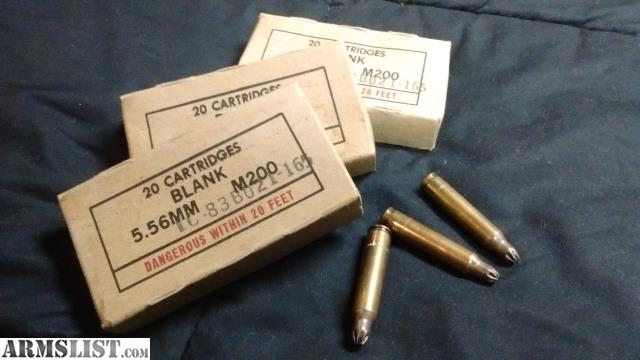 ARMSLIST - For Sale: M200 Blanks  223/5 56