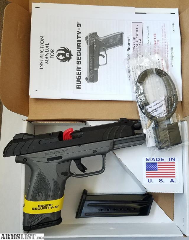 ARMSLIST - For Sale: Ruger Security-9 Black/Tungsten Grey