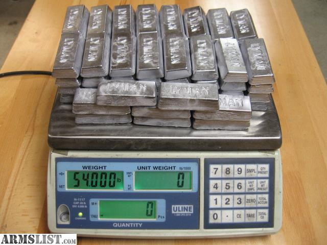 ARMSLIST - For Sale: Lead Ingots - Will Ship