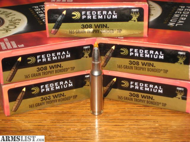 ARMSLIST - For Sale: 6 New Boxes of  308 Win  165 Grain