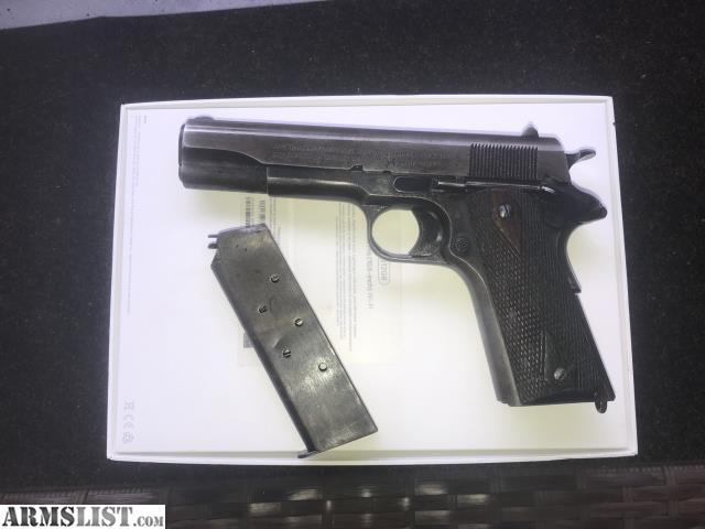 ARMSLIST - For Sale: WW1 1918 Colt 1911 w/ original holster