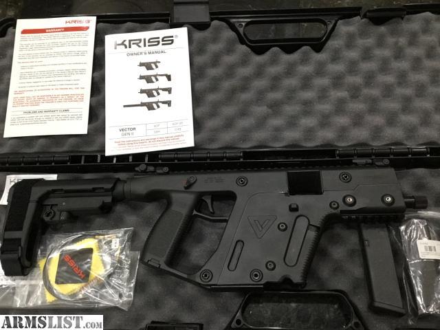 ARMSLIST - For Sale: Kriss Vector 10 mm Gen II