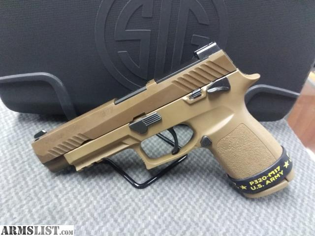 ARMSLIST - For Sale: Sig Sauer P320 M17, 9mm - Manual Safety