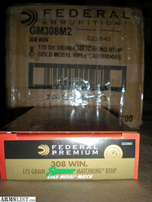 ARMSLIST - For Sale: Federal Premium Gold Medal Ammunition