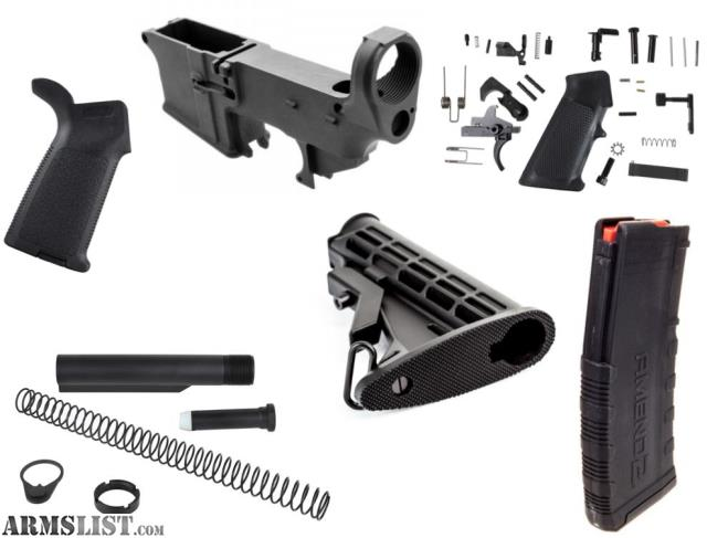 ARMSLIST - For Sale: AERO PRECISION KIT ONE 80% COMPLETE LOWER BUILD KIT