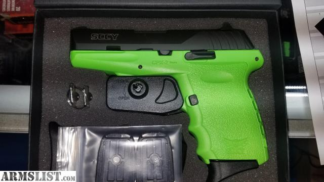 ARMSLIST - For Sale: Limited edition SCCY, LIME GREEN