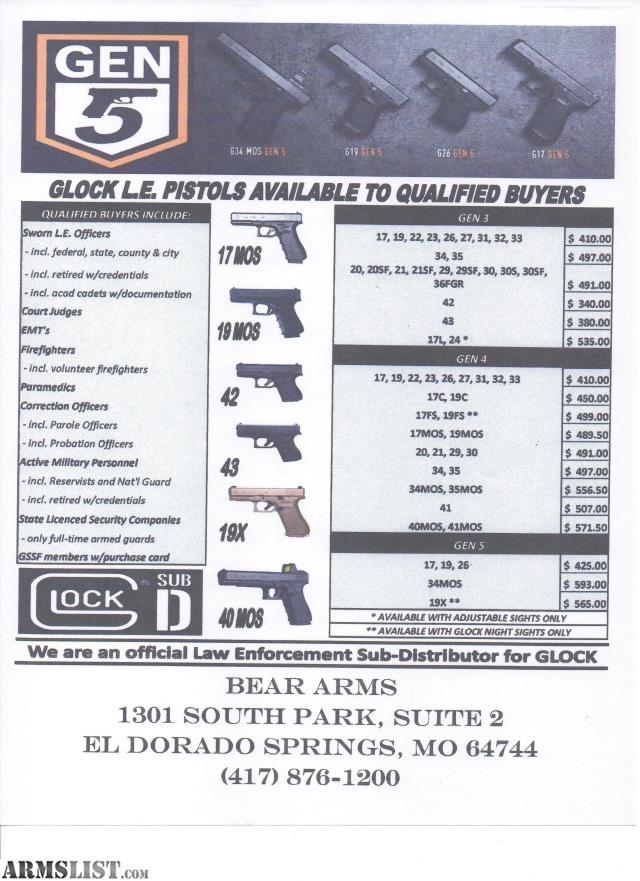 armslist - for sale: glock blue label dealer le only