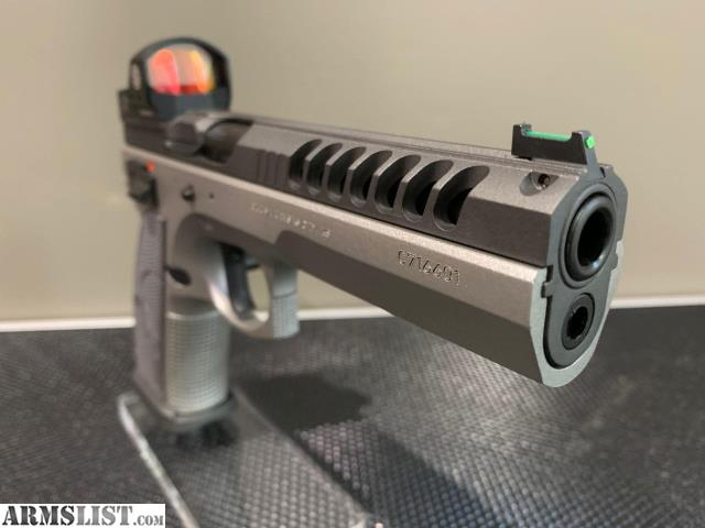 ARMSLIST - For Sale: CUSTOM CZ 75 Tactical Sport with ROMEO1